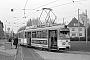 """Düwag ? - Stadtwerke Bielefeld """"829"""" 29.03.1981 - Bielefeld, Endstelle BrennerstraßeChristoph Beyer"""
